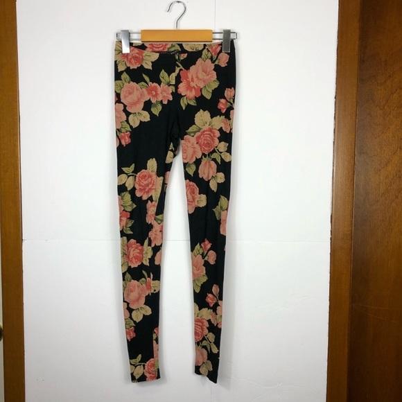 Talula Aritzia floral print leggings Sz XS